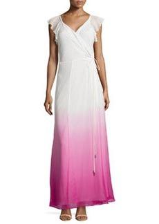 Diane von Furstenberg Delancey Ombre Wrap Maxi Dress
