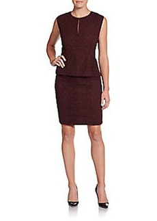 Diane von Furstenberg Delian Lace Embroidered Peplum Dress