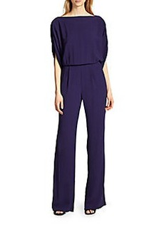 Diane von Furstenberg Dezi Draped Blouson Jumpsuit