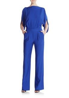 Diane von Furstenberg Dezi Stretch Silk Jersey Jumpsuit