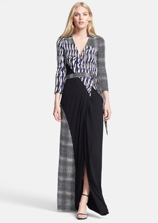 Diane von Furstenberg 'Diana' Silk Jersey Wrap Maxi Dress