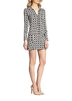 Diane von Furstenberg Dilly Silk Knit Shirtdress