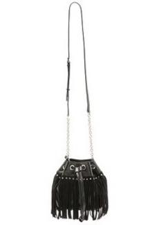 Diane von Furstenberg Disco Fringe Drawstring Bucket Bag