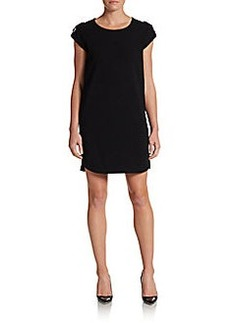 Diane von Furstenberg Dominique Crepe Shift Dress/Black