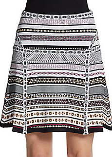 Diane von Furstenberg Dotted Ponte Skirt