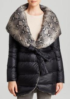DIANE von FURSTENBERG Down Coat - Paulina Reversible Wrap