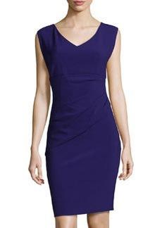 Diane von Furstenberg Draped Jersey Sheath Dress, Purple Haze