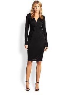 Diane von Furstenberg Draped Satin Jersey Dress