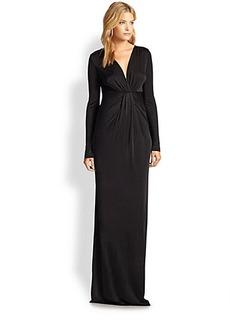 Diane von Furstenberg Draped Satin Jersey Gown