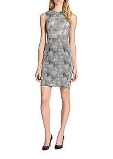 Diane von Furstenberg Eden Textured Jacquard Sheath Dress