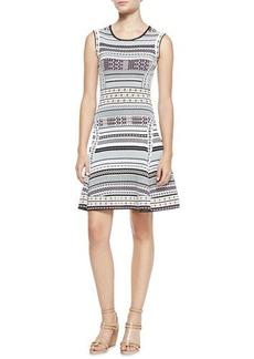 Diane von Furstenberg Eleanor Printed Knit Sleeveless Dress