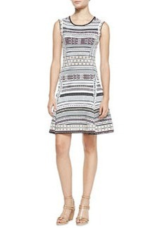 Diane von Furstenberg Eleanor Printed Knit Sleeveless Dress