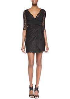 Diane von Furstenberg Elisabeth Jersey/Lace Wrap Dress