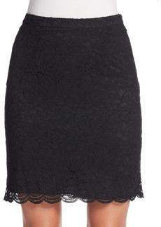 Diane von Furstenberg Eliza Pleated-Back Lace Skirt