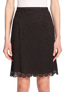 Diane von Furstenberg Eliza Pleated-Back Lace Skirt