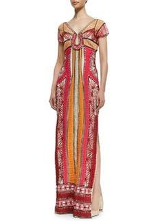 Diane von Furstenberg Ellison Passementerie Maxi Dress, Multicolor