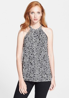 Diane von Furstenberg Embellished Silk Halter Top
