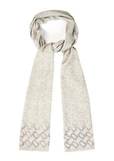 Diane Von Furstenberg Embellished wool and cashmere-blend scarf
