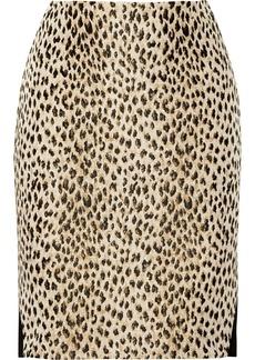 Diane von Furstenberg Emma paneled jacquard and jersey skirt