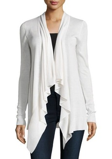 Diane von Furstenberg Erin Silk-Blend Draped Open-Front Sweater