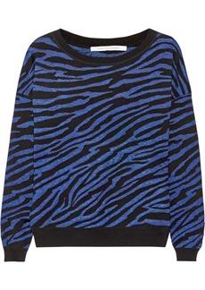 Diane von Furstenberg Estelle zebra-print wool-blend sweater