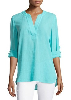 Diane von Furstenberg Esti Long-Sleeve Cotton Blouse