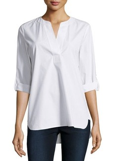 Diane von Furstenberg Esti Long-Sleeve Cotton Blouse