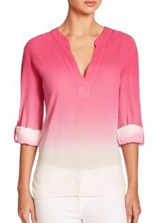 Diane von Furstenberg Esti Ombré Cotton Gauze Shirt