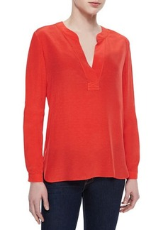 Diane von Furstenberg Esti Split-Neck Loose Top
