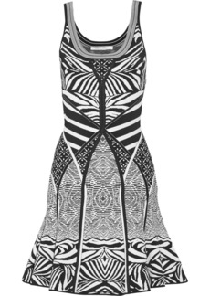 Diane von Furstenberg Fanny jacquard-knit mini dress