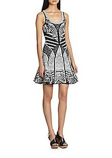 Diane von Furstenberg Fanny Printed Fit-&-Flare Dress