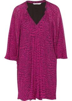 Diane von Furstenberg Feurette printed silk-chiffon mini dress