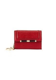 Diane Von Furstenberg Flap-Top Card Case, Classic Red