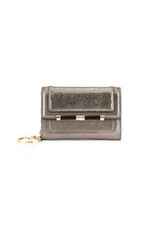Diane von Furstenberg Flap-Top Card Case, Pewter