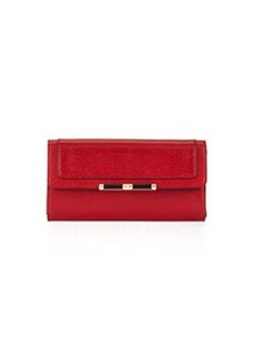 Diane von Furstenberg Flap-Top Continental Wallet, Classic Red