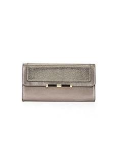Diane von Furstenberg Flap-Top Continental Wallet, Pewter