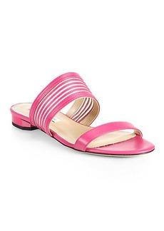 Diane von Furstenberg Flavia Striped Leather & Mesh Sandals