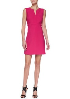 Diane von Furstenberg Fleur Split-Neck Ponte Dress