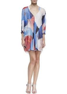 Diane von Furstenberg Fleurette Billow Sleeve Dress, Batik Land Large Print
