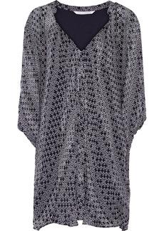 Diane von Furstenberg Fleurette printed silk-georgette mini dress