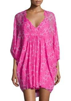 Diane von Furstenberg Fleurette Silk Shift Dress, Rose