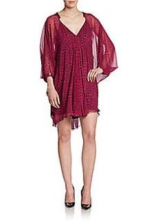 Diane von Furstenberg Fleurette Snake-Print Silk Dress