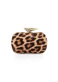 Diane von Furstenberg Flirty Calf-Hair Minaudiere Evening Clutch Bag, Leopard