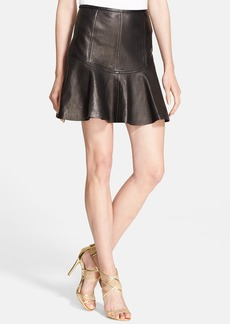 Diane von Furstenberg 'Flirty' Leather Skirt