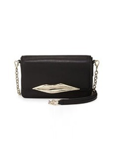 Diane von Furstenberg Flirty Mini Leather Crossbody Bag, Black