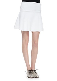 Diane von Furstenberg Flote Rib-Trim Fit-and-Flare Skirt