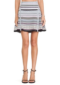 Diane von Furstenberg Flote Skirt in Black & White
