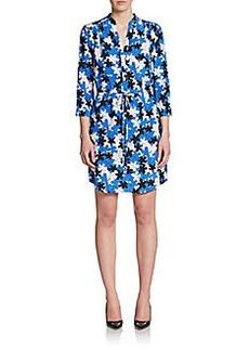Diane von Furstenberg Freya Floral Print Silk Dress