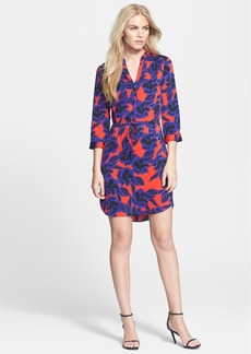 Diane von Furstenberg 'Freya' Print Stretch Silk Shirtdress