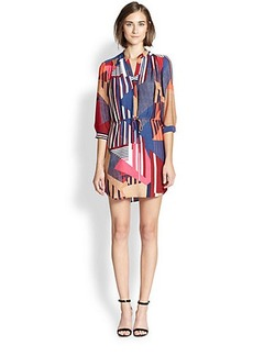 Diane von Furstenberg Freya Printed Stretch-Silk Dress
